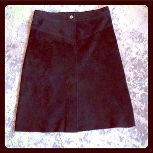 Black Real Suede Skirt BEBE